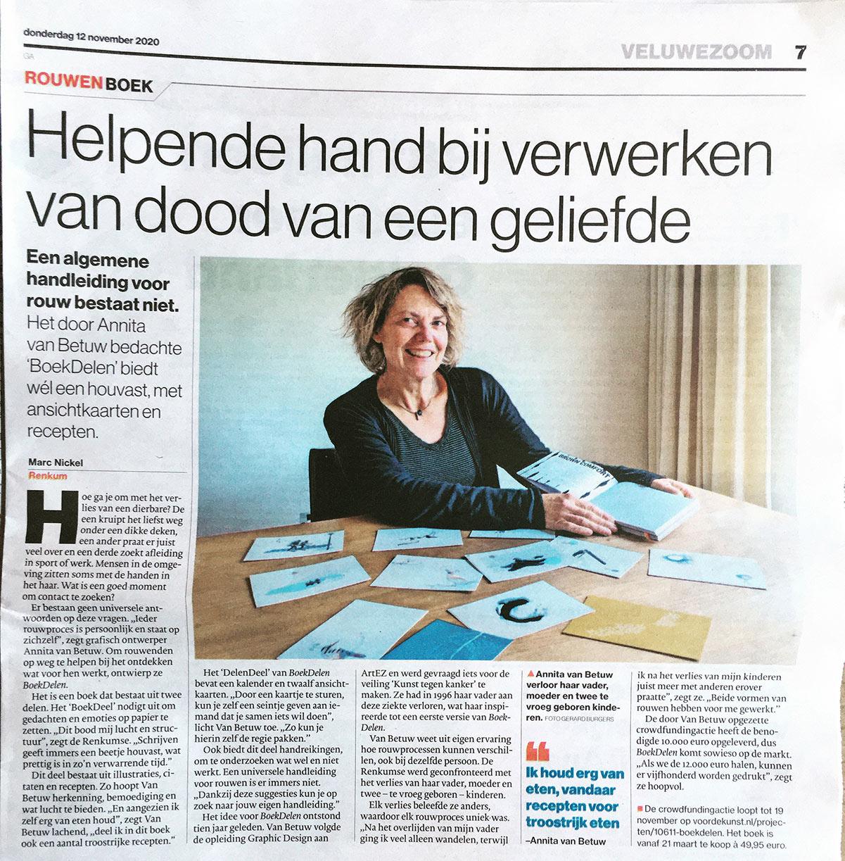 Artikel Gelderlander BoekDelen